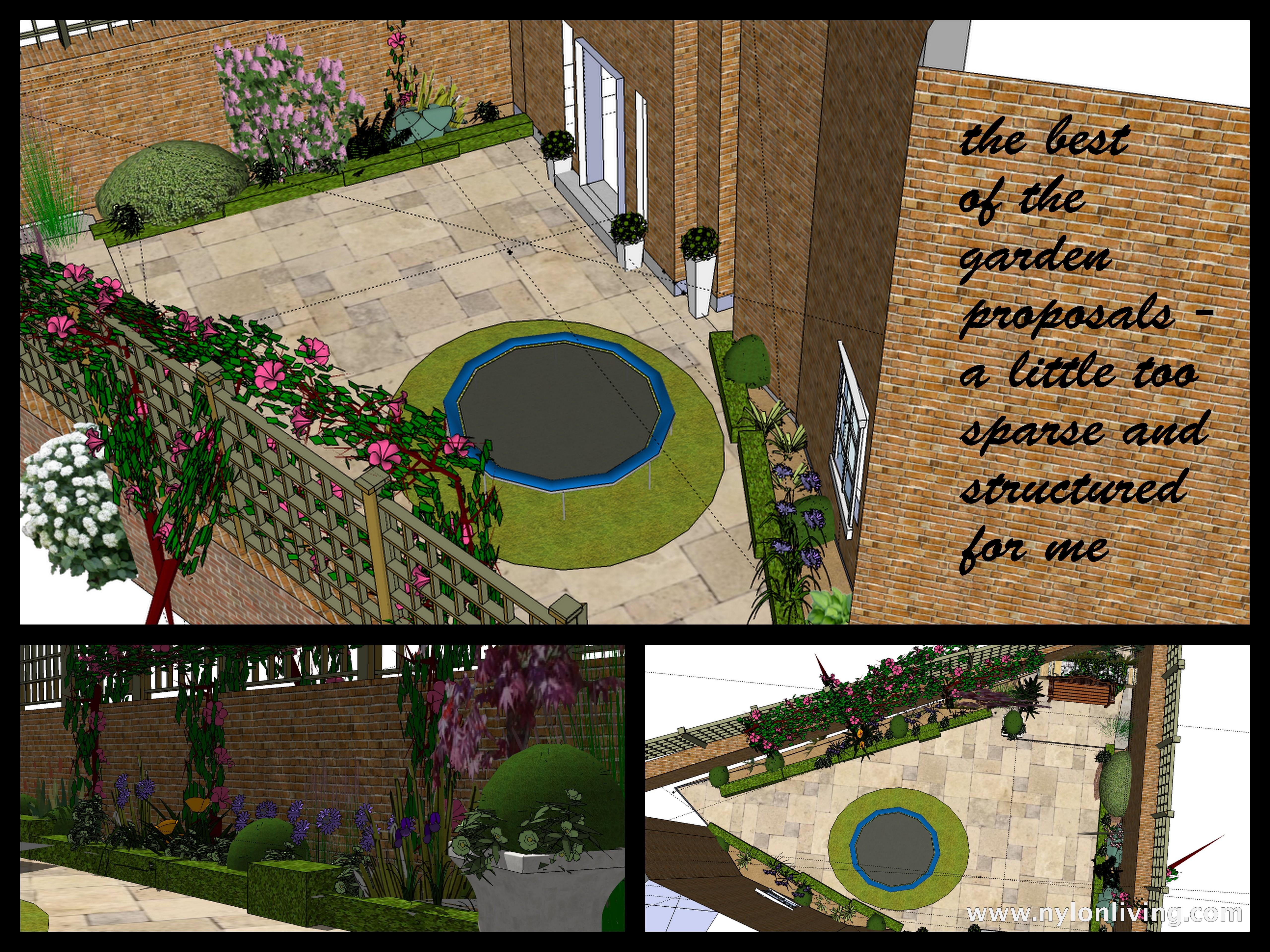 Garden Design With Trampoline patio garden - nylon living
