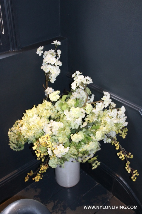 Use flowers liberally - even on staircases.