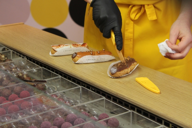 eclairs served