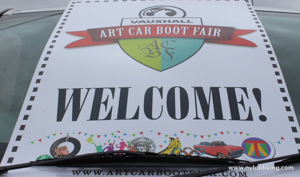 art car boot sale sign