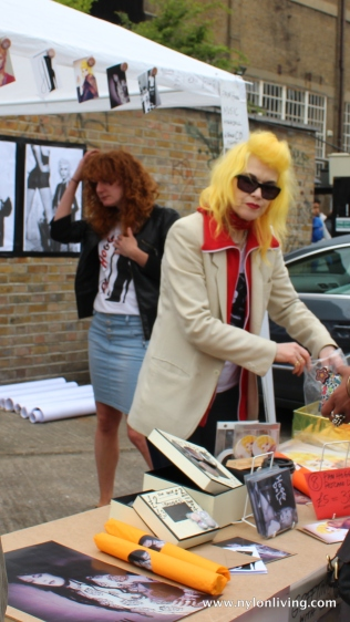 Pam Hogg at her stall