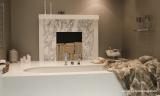 fireplace bathtub