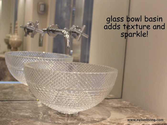 glass bathroom bowl