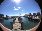 Edgartown harbor fisheye lens