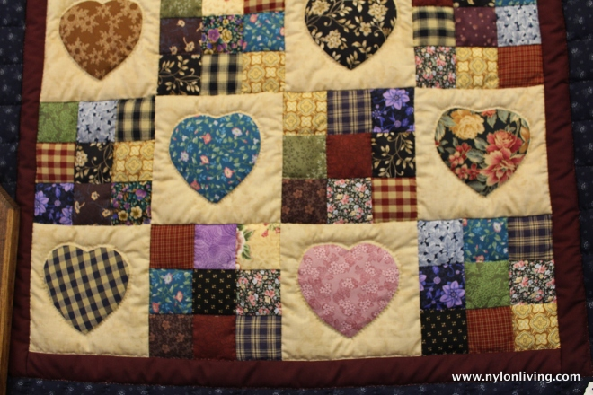 beautiful hand-made quilt