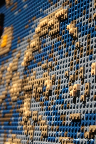 detail from Starry Night Lego replica