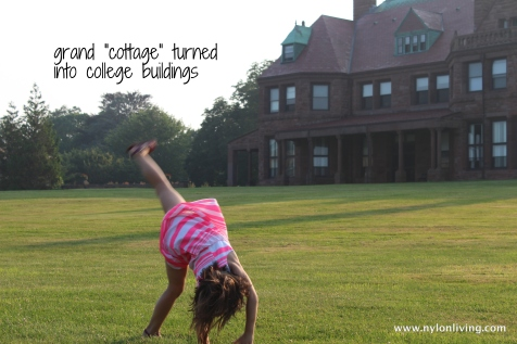 cartwheels on the lawn