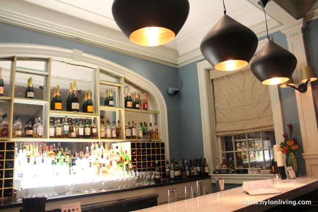 bar with Tom Dixon lights