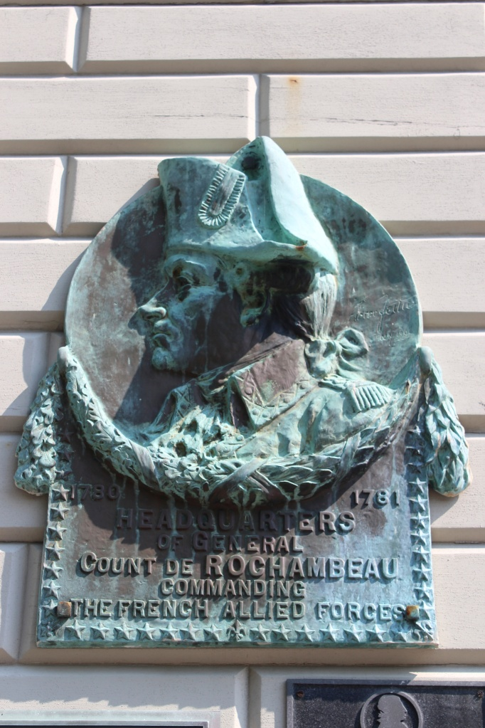 Plaque marking the French headquarters during the American Revolution