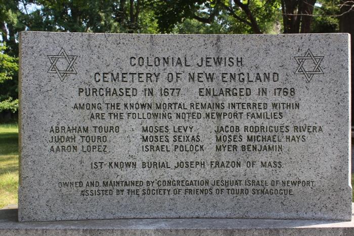 Newport Jewish Cemetary Plaque