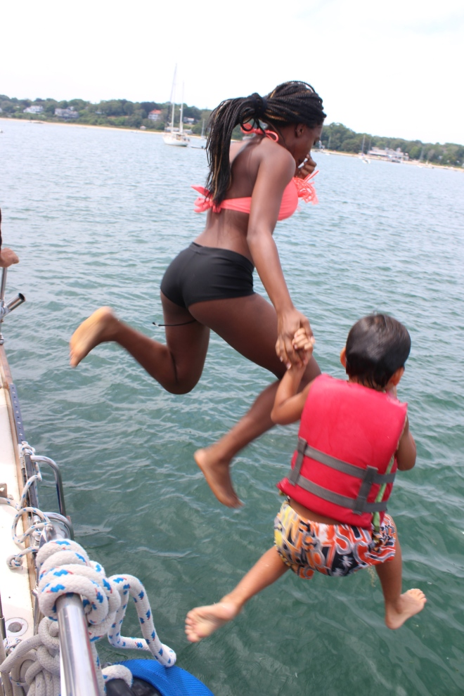 jumping off a boat