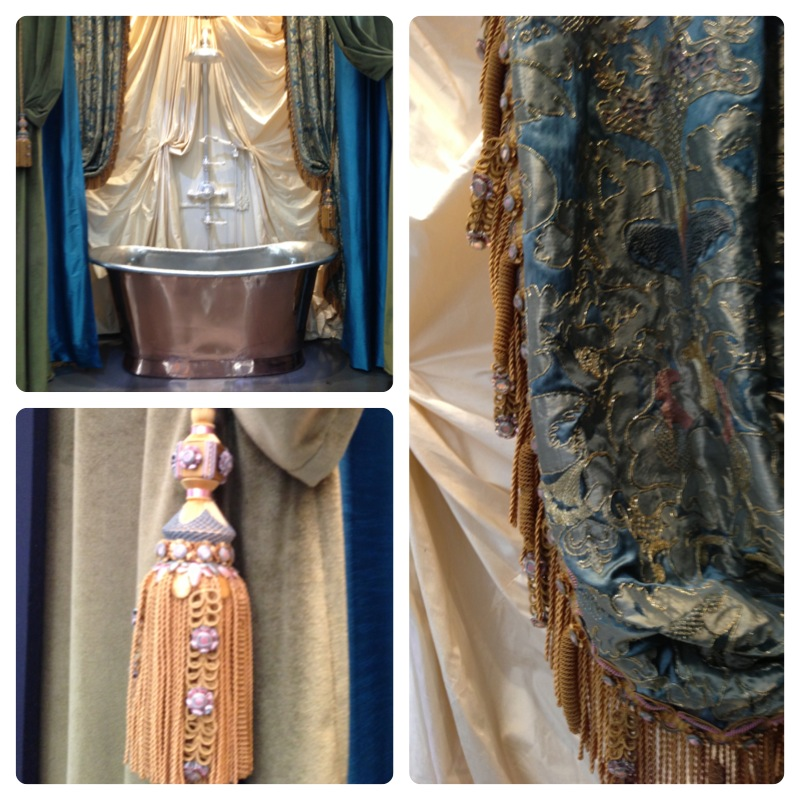 details of the fabrics of Philippe Coudray