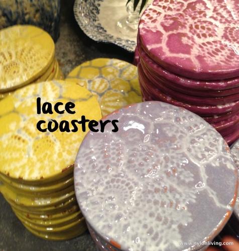 stone lace coasters