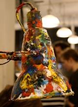 paint splattered anglepoise