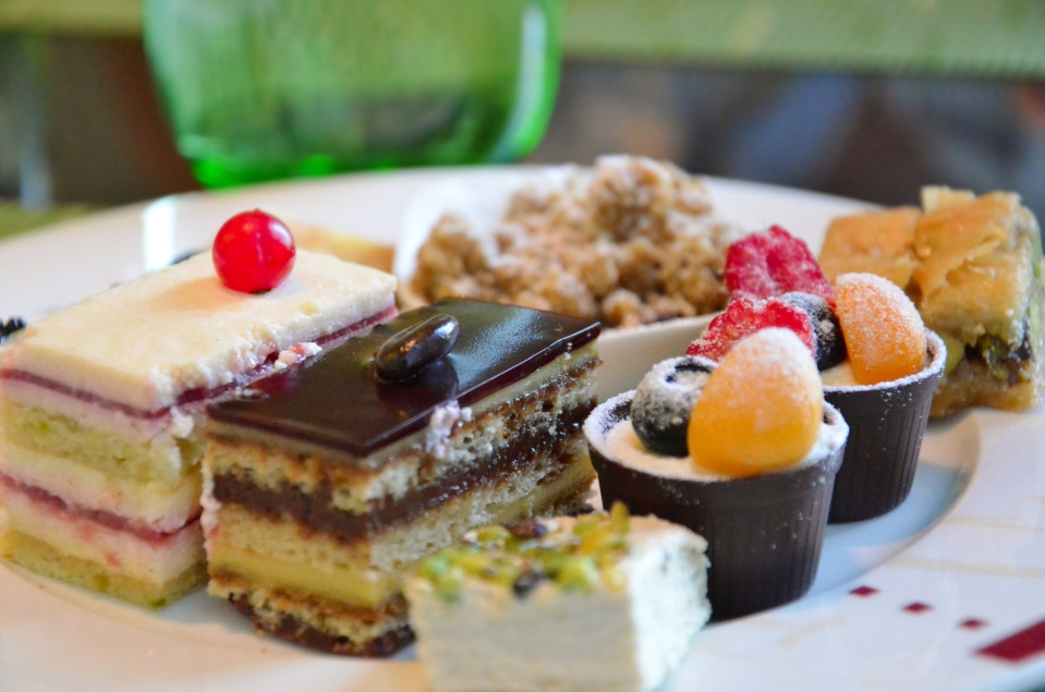 plate of desserts