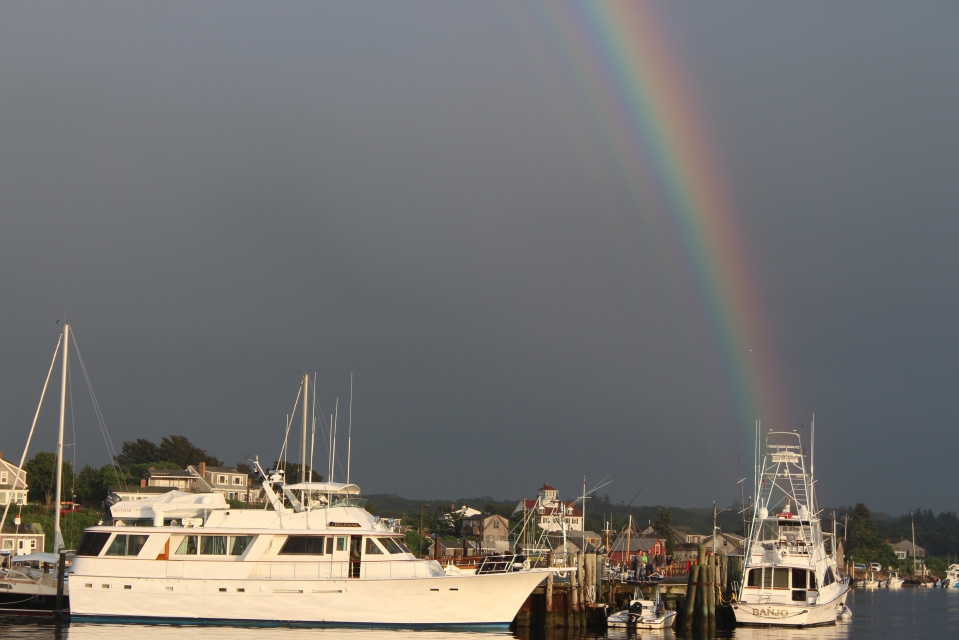 rainbow in menemsha