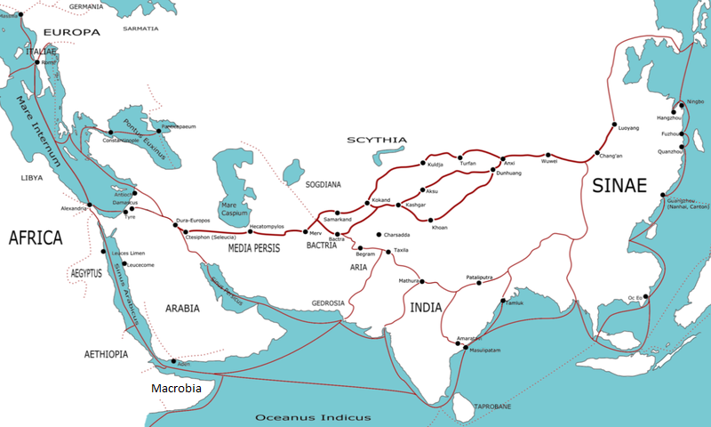 Silk Route in 1st Century A.D.