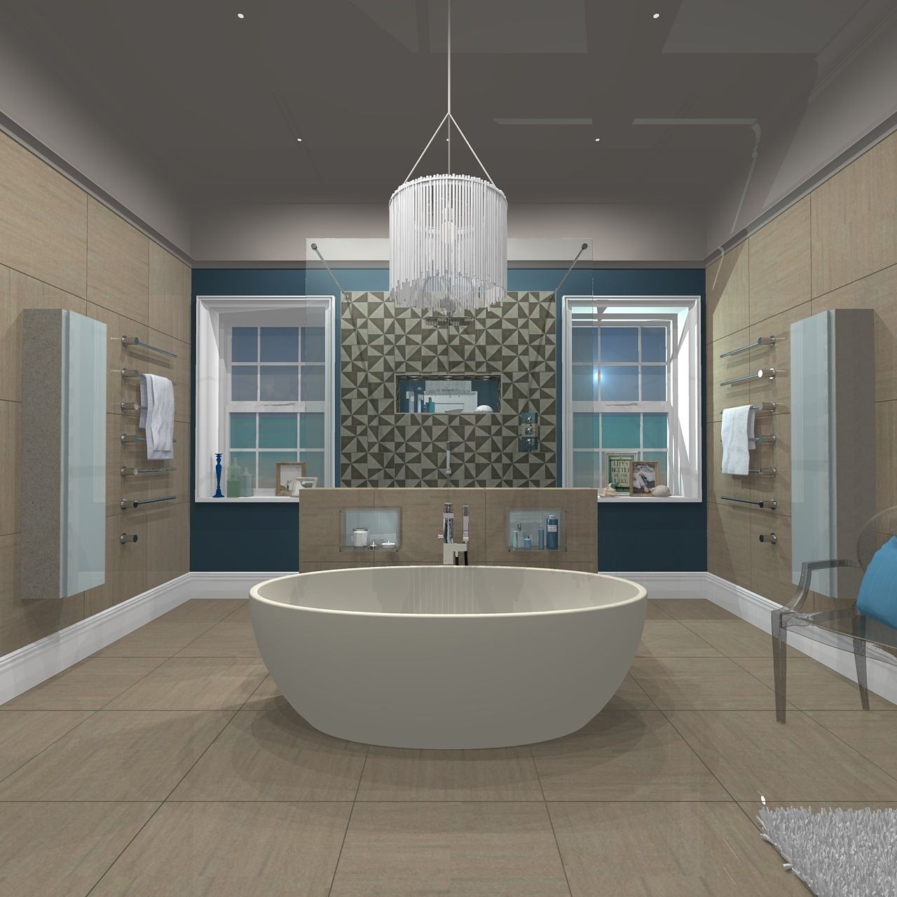 My c p hart dream bathroom in 3d nylon living for Oversized baths