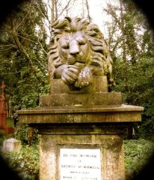 lion tombstone