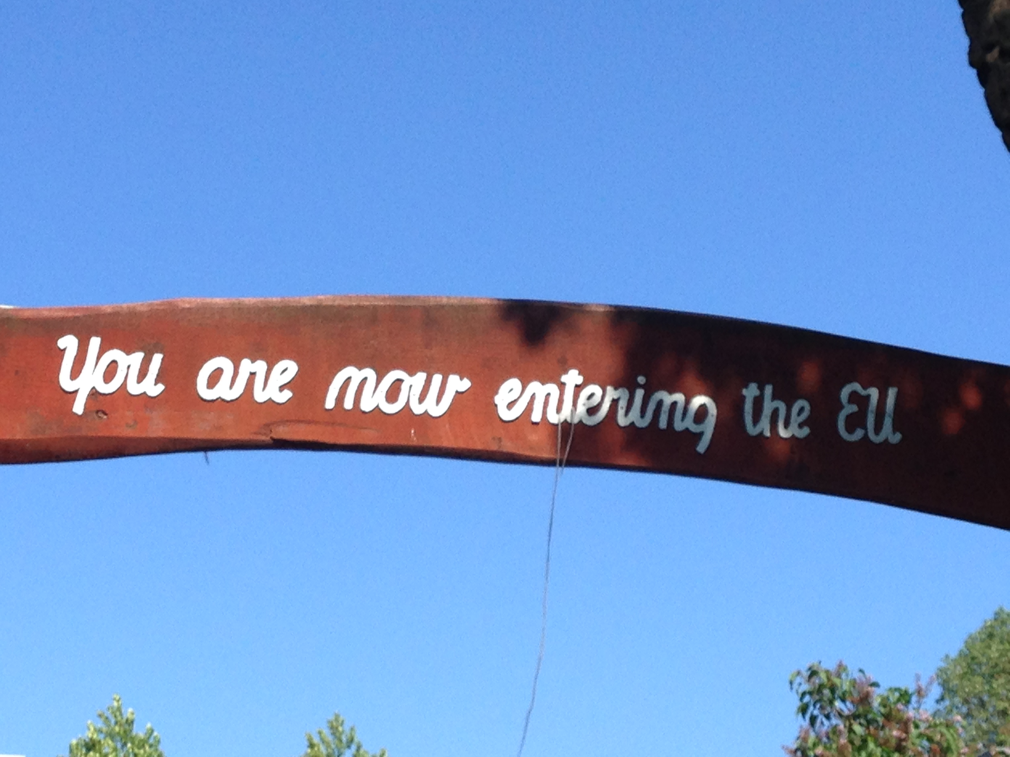 Christiania sign about leaving the EU