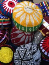 basket of fez hats
