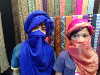 children in toured costume