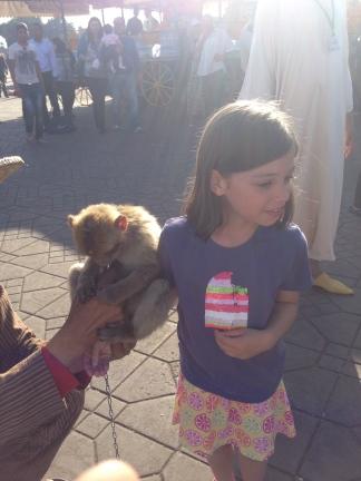 monkey on child