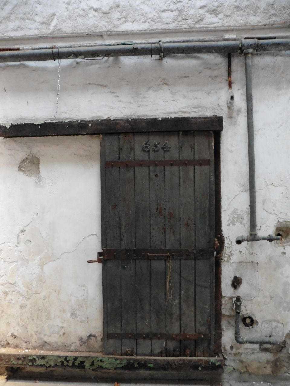 door to an inmate's cell
