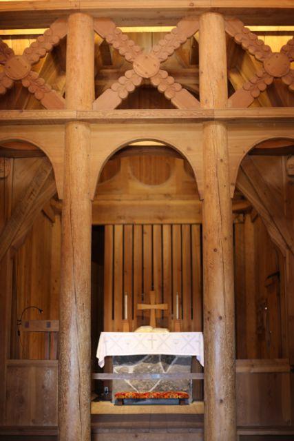 stavkirke interior