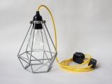 yellow grey cage light