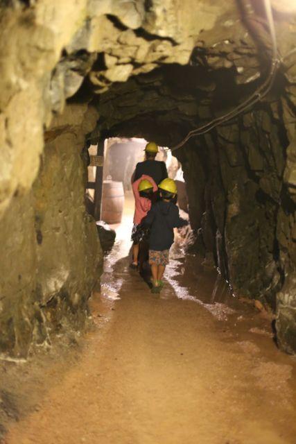 mining tunnel dug by hand