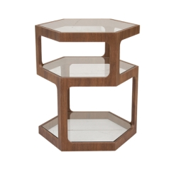 dwell hexagon side table
