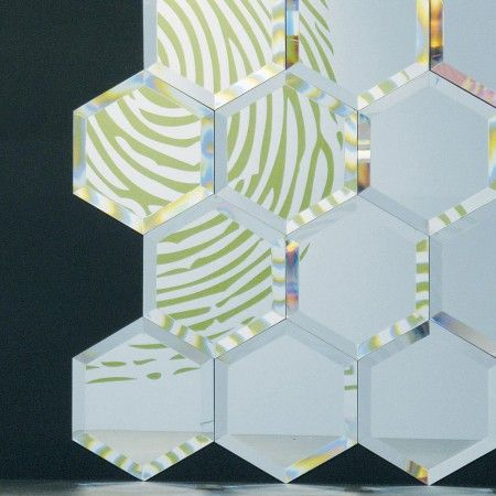 Hexagonal tile mirrors