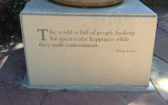 quote on contentment