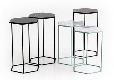 Diesel hexagon side table
